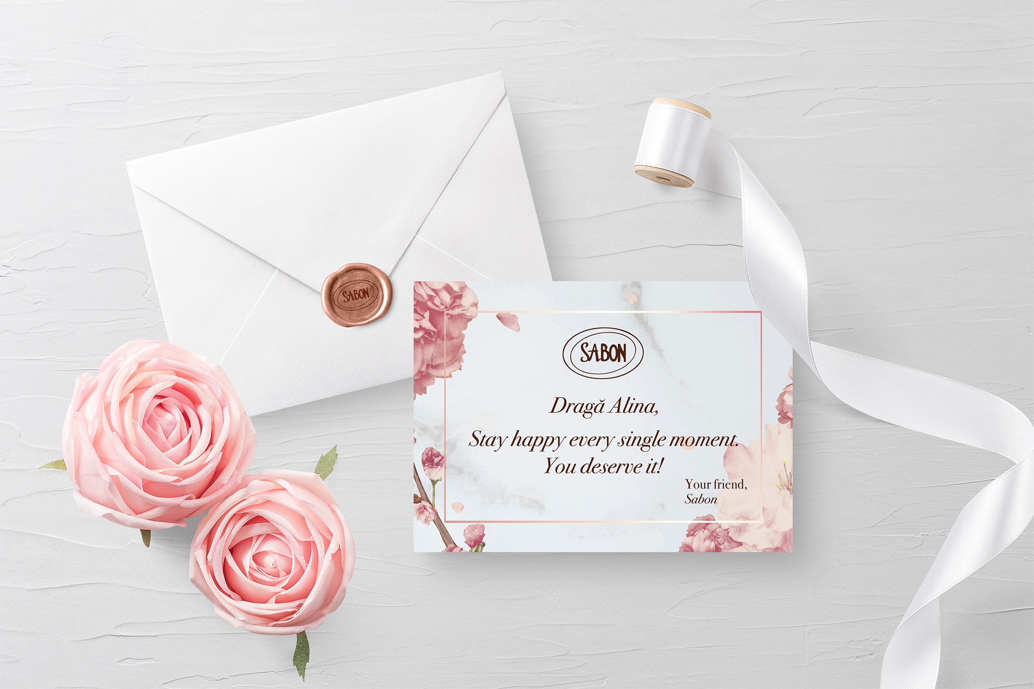 Sabon Print Invitation