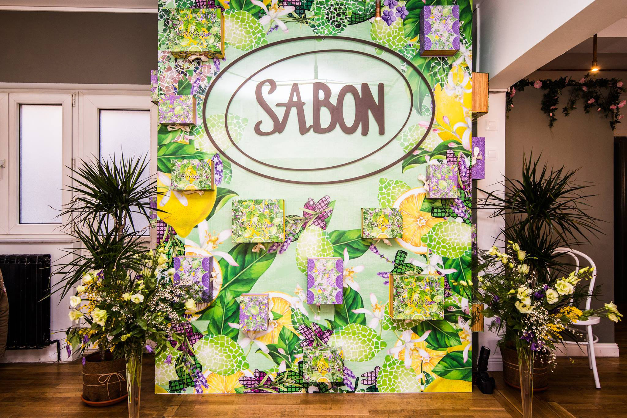 Sabon Set Up Booth